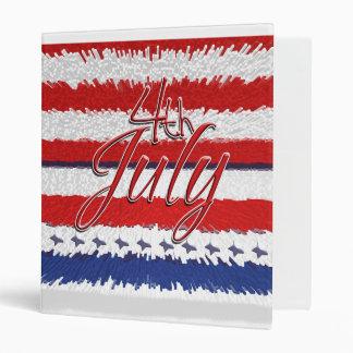 4 July independence day patriotic American Vinyl Binder