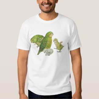 4 kakapos remeras