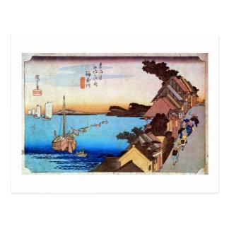 4. Kanagawa inn, Hiroshige Postcard