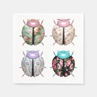 4 Lady Bugs Napkins