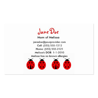 4 Ladybugs Calling Card Double-Sided Standard Business Cards (Pack Of 100)