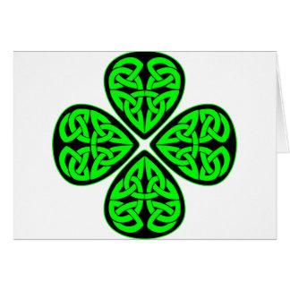 4 Leaf Celtic Shamrock Card