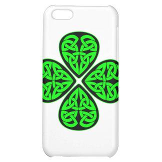 4 Leaf Celtic Shamrock Case For iPhone 5C