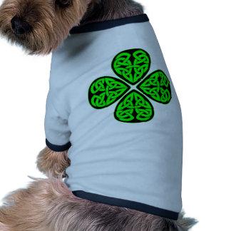 4 Leaf Celtic Shamrock Doggie Tshirt