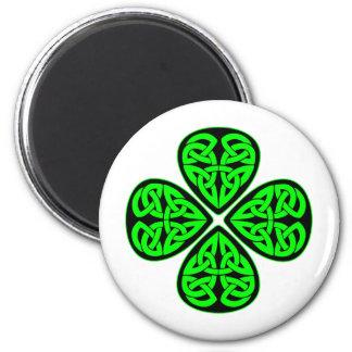 4 Leaf Celtic Shamrock Fridge Magnets