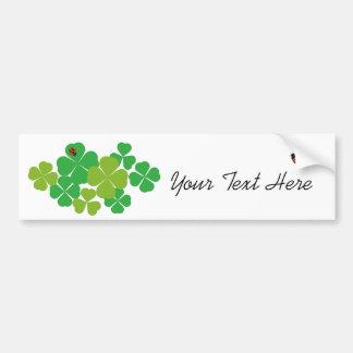 4 Leaf Clover and Ladybug_St. Patrick's Day Bumper Sticker
