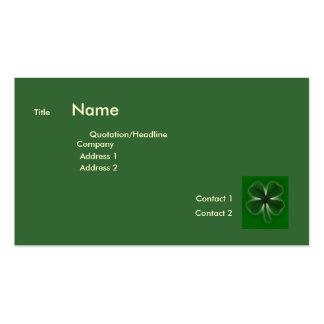 4 Leaf Clover Business Card