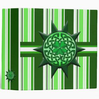 4 leaf clover Celtic symbol 1 3 Ring Binder