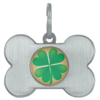 4 Leaf Clover Dog Bone Tag