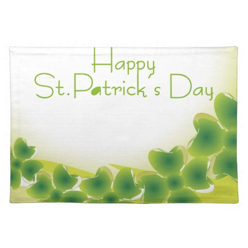 4 leaf clover for st patrick s day placemat zazzle