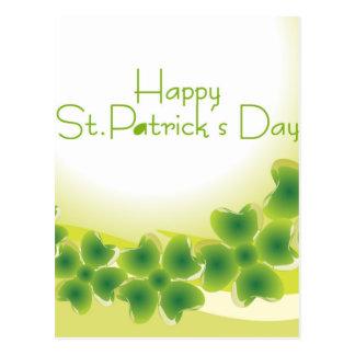 4 leaf clover for St.Patrick's Day Postcard