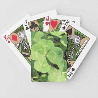 4 Leaf Clover Good Luck Charm Bicycle Playing Cards