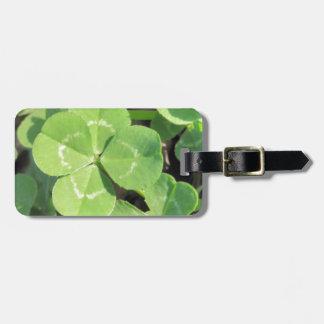4 Leaf Clover Good Luck Charm Photo Bag Tag