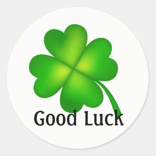 4 Leaf Clover Good Luck Classic Round Sticker