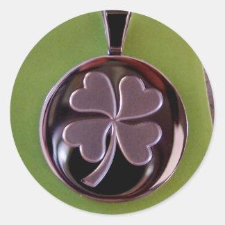 4 leaf clover IRISH PROUD Sticker