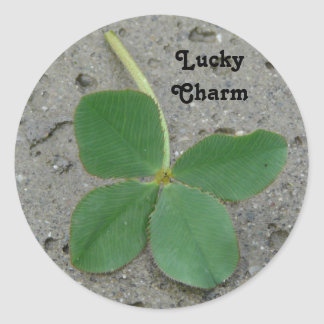 4 Leaf Clover - Lucky Charm! Classic Round Sticker