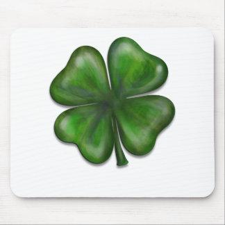 4 leaf clover mouse pad