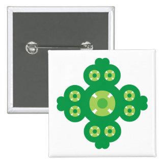 4 Leaf Clover Pinback Button