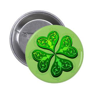 4 Leaf Clover Pinback Buttons