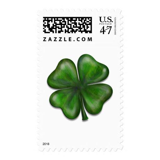 4 leaf clover postage