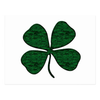 4 leaf clover postcard