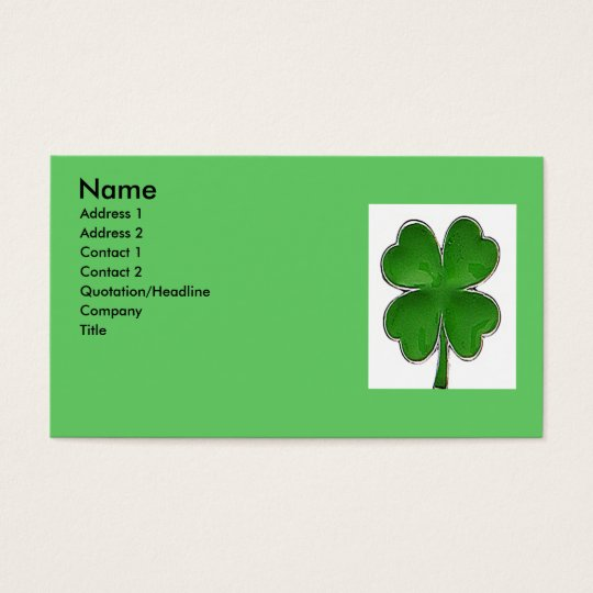 4 Leaf clover Profile Card