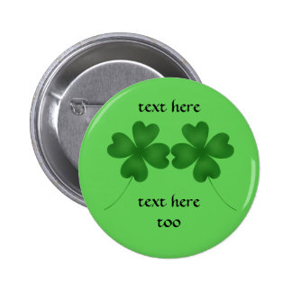 4 leaf clovers for St. Patrick's day Pin