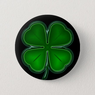 4 Leaf on Black Back Button