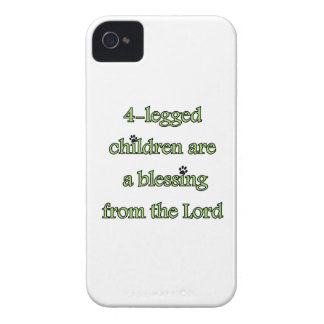 4-legged children are a blessing Case-Mate iPhone 4 cases