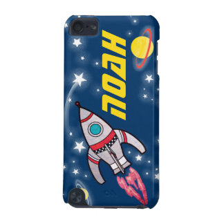 4 letter named space rocket blue yellow iPod touch (5th generation) case