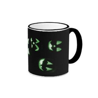 4 Lit Jack-O-Lanterns - Green Ringer Mug