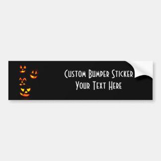 4 Lit Jack-O-Lanterns - Orange Bumper Sticker