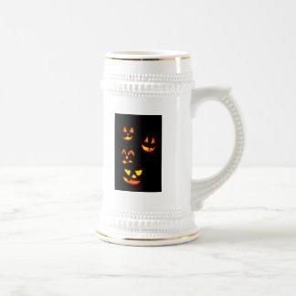 4 Lit Jack-O-Lanterns - Orange Coffee Mug