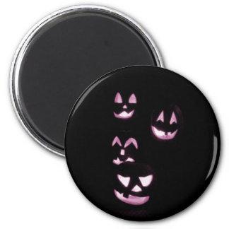 4 Lit Jack-O-Lanterns - Pink Magnet