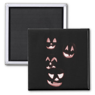 4 Lit Jack-O-Lanterns - Red Magnet