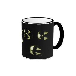 4 Lit Jack-O-Lanterns - Yellow Ringer Mug