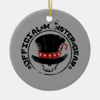 4 Little Monsters - Andy Holiday Logo Ceramic Ornament