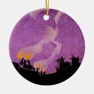 4 Little Monsters - Halloween Night Ceramic Ornament