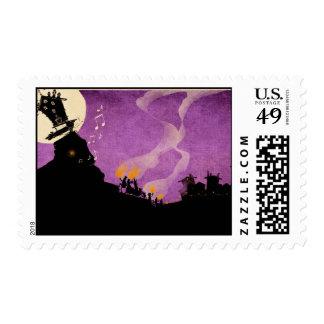 4 Little Monsters - Halloween Night Postage
