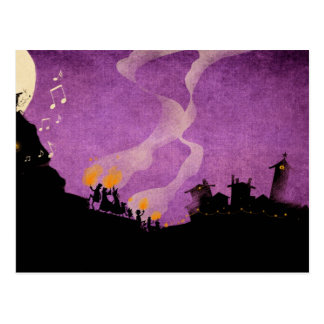 4 Little Monsters - Halloween Night Post Card