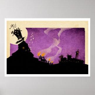 4 Little Monsters - Halloween Night Poster