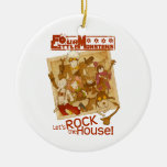 4 Little Monsters - Let's Rock the House Christmas Ornaments