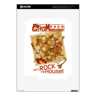 4 Little Monsters - Let's Rock the House iPad 3 Decal