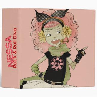 4 Little Monsters - Nessa 3 Ring Binder