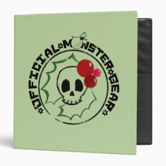 4 Little Monsters - Nessa Holiday Logo 2 3 Ring Binder