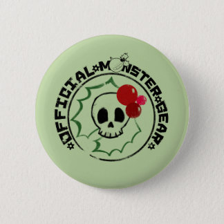 4 Little Monsters - Nessa Holiday Logo 2 Button