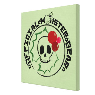 4 Little Monsters - Nessa Holiday Logo 2 Canvas Print