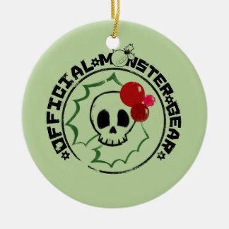4 Little Monsters - Nessa Holiday Logo 2 Ceramic Ornament
