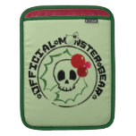 4 Little Monsters - Nessa Holiday Logo 2 iPad Sleeves