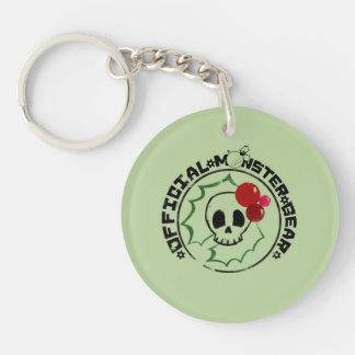4 Little Monsters - Nessa Holiday Logo 2 Single-Sided Round Acrylic Keychain